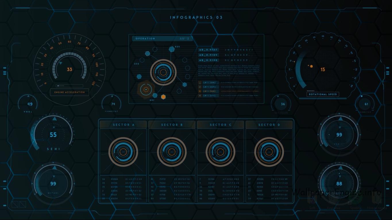 Cyber HUD Ⅲ скачать живые обои wallpaper engine
