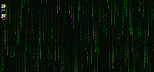 Matrix - falling code скачать обои