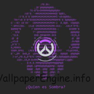 Overwatch Sombra skull logo