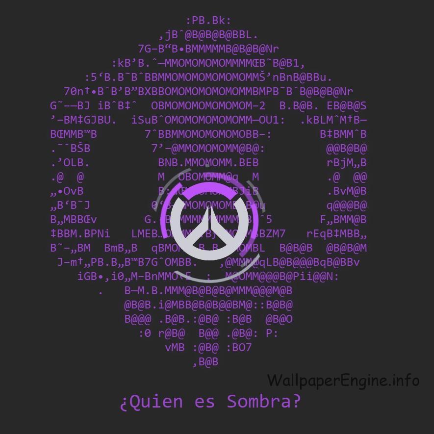 живые обои Overwatch Sombra Skull Logo Wallpaper Engine