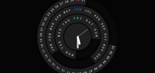 Circular Calendar and Clock