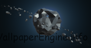 Low-Poly Spinning Asteroid