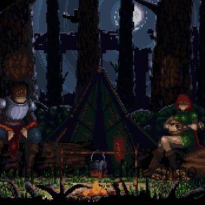 Pixelart Night Campfire Animation
