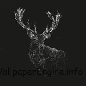 Minimal Plexus Deer [1920x1080]