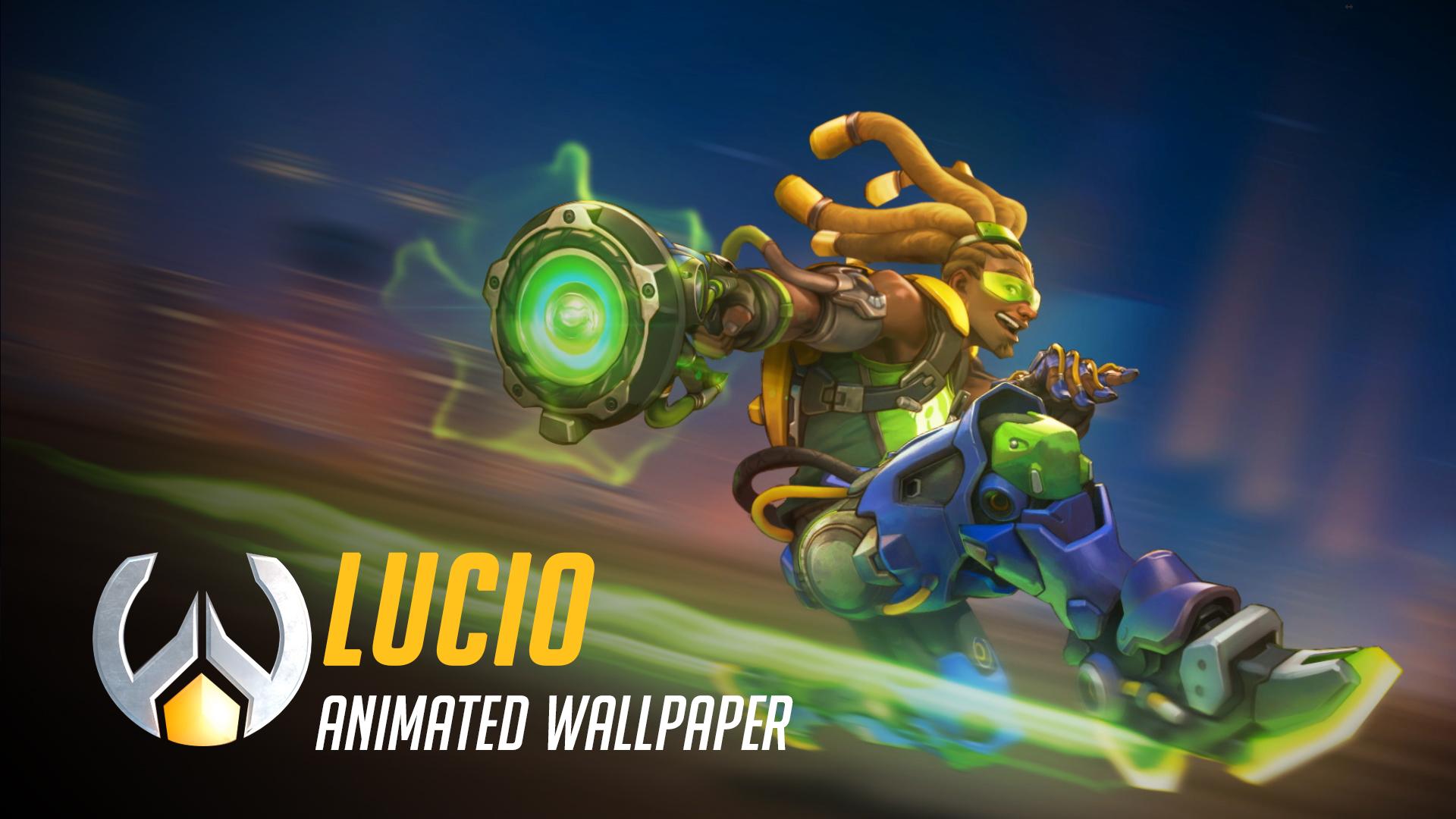живые обои Lucio Animated Wallpaper Overwatch