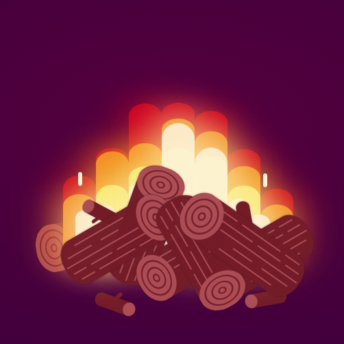 Minimalistic Campingfire