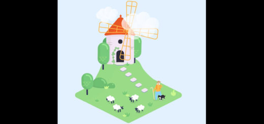 Windmill & sheep