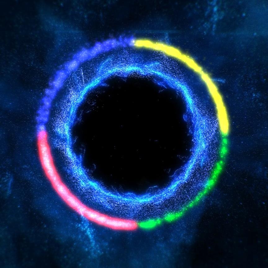 Audio Responsive Black Hole (Colors)