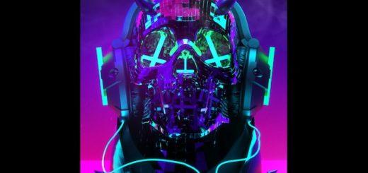 Audio responsive Cyberpunk Skull