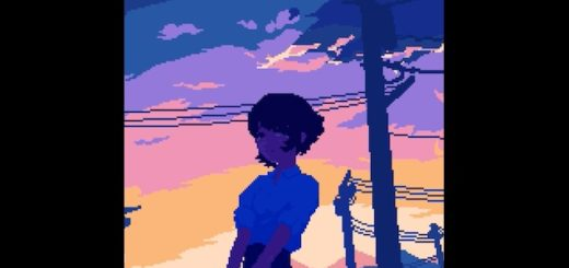 Girls and sunsets (Pixel arts by Ozumikan)
