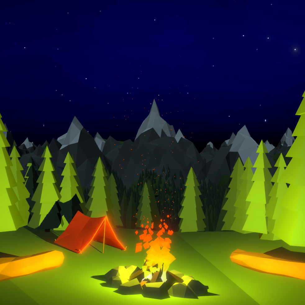 Low Poly Campfire