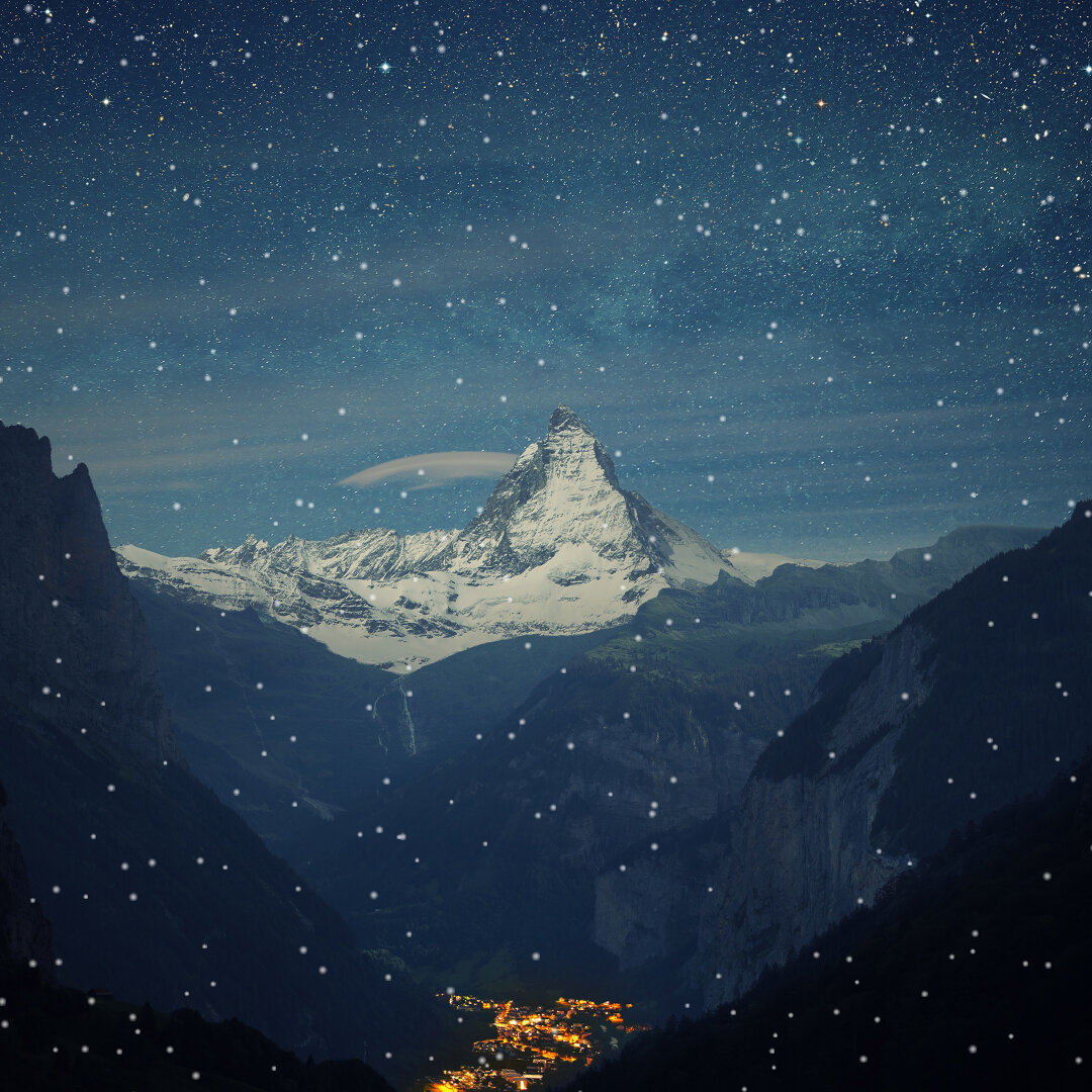 The Alps interactive snow
