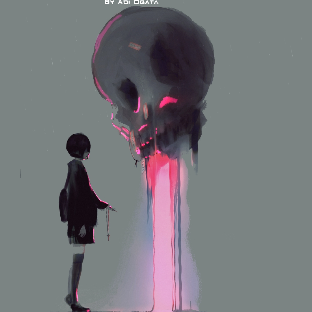 Girl and Skull [Animated]