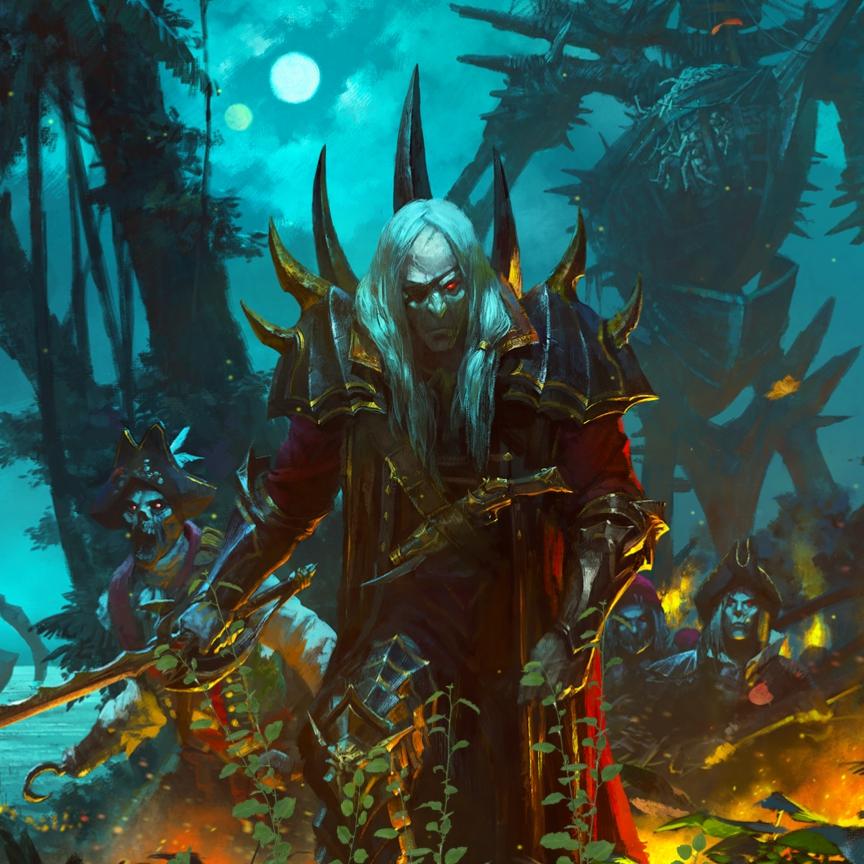Total War: WARHAMMER II - Curse of the Vampire Coast (Custom background_2)
