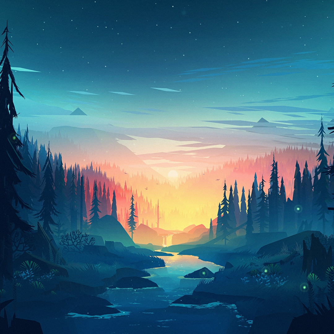Аниме пейзаж