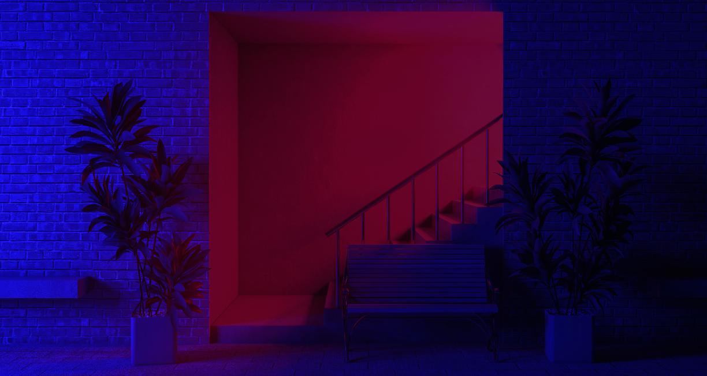 Живые обои Red&Blue [Audio Responsive] - Wallpaper Engine